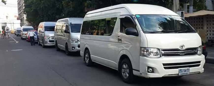 For your comfort or big groupsVans up to 9 persons
